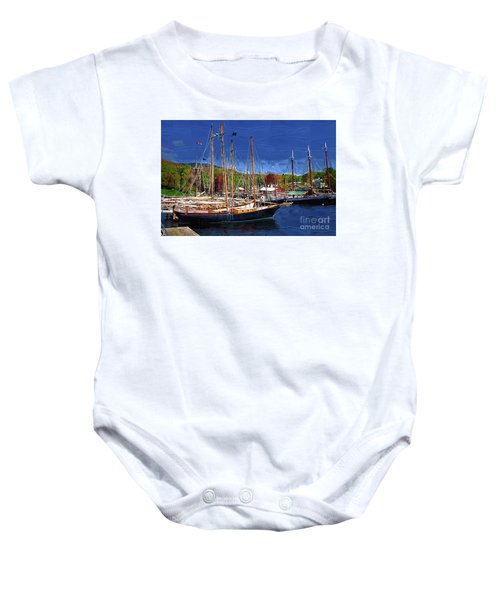 Black Sailboats Baby Onesie