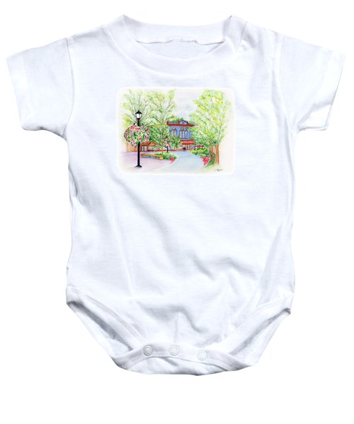 Black Sheep On The Plaza Baby Onesie