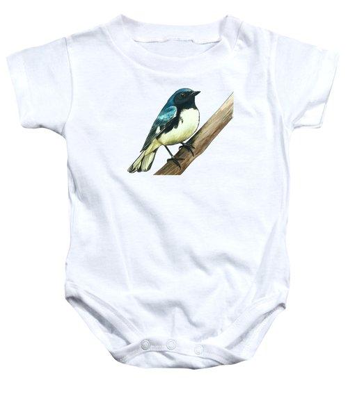 Black-throated Blue Warbler Baby Onesie