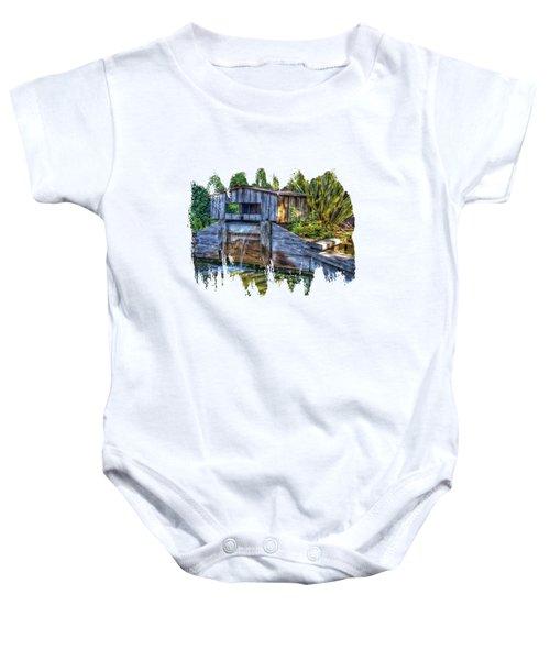 Blakes Pond House Baby Onesie