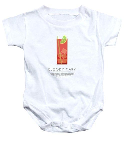 Bloody Mary Classic Cocktail - Minimalist Print Baby Onesie