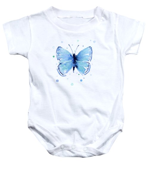 Blue Abstract Butterfly Baby Onesie