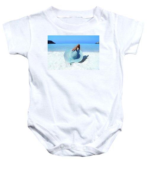 Blue Beach Baby Onesie