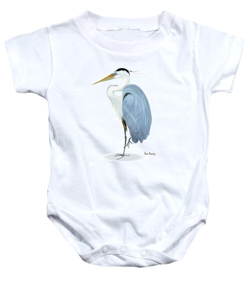 Blue Heron With No Background Baby Onesie