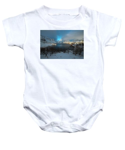 Blue Hour Over Reine Baby Onesie