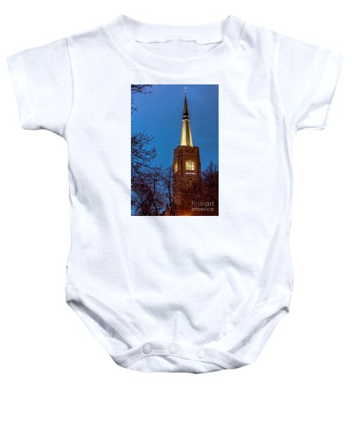 Blue Hour Steeple Baby Onesie