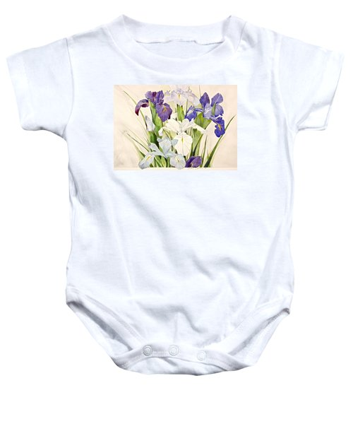 Blue Irises-posthumously Presented Paintings Of Sachi Spohn  Baby Onesie