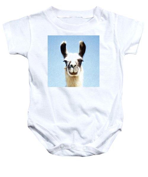 Blue Llama Baby Onesie
