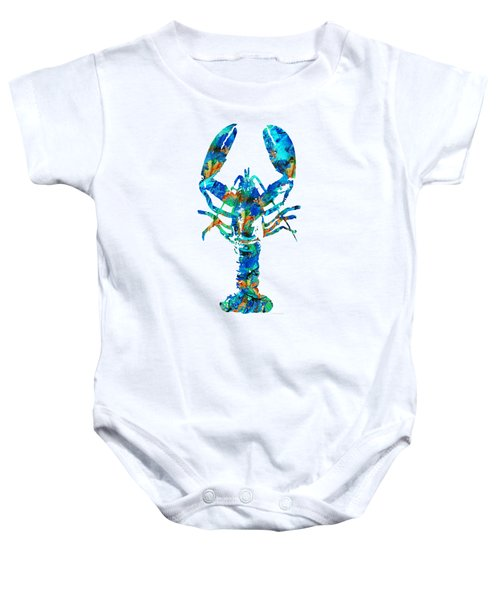 Blue Lobster Art By Sharon Cummings Baby Onesie