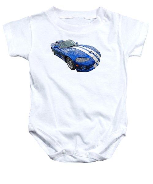 Blue Viper Baby Onesie
