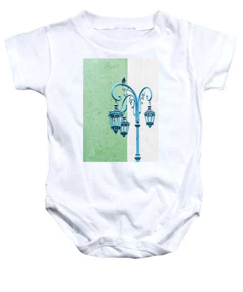 Blue,green And White Baby Onesie
