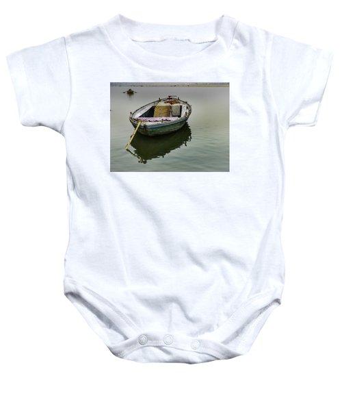 boat at Ganges Baby Onesie