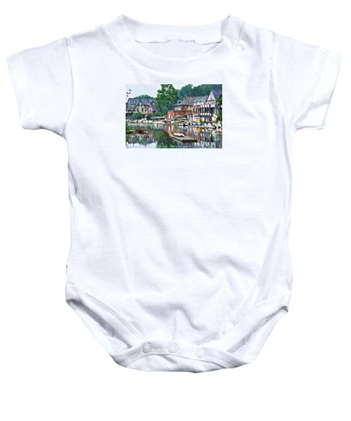 Boathouse Row In Philadelphia Baby Onesie