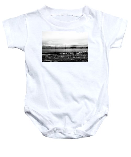 Boats And Clouds Baby Onesie