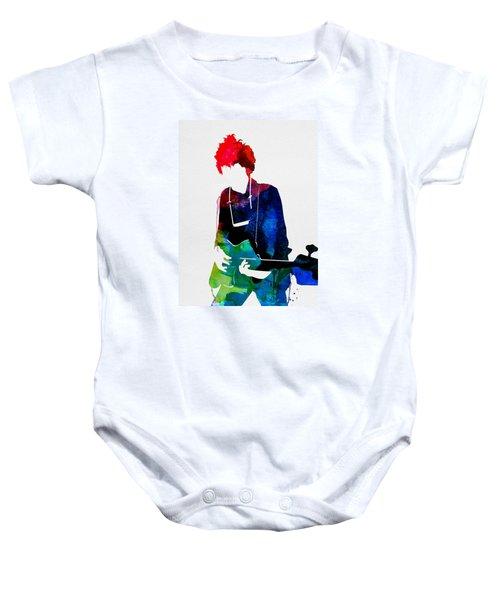 Bob Watercolor Baby Onesie by Naxart Studio