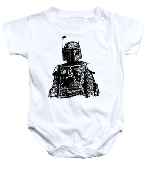 Boba Fett From The Star Wars Universe Baby Onesie