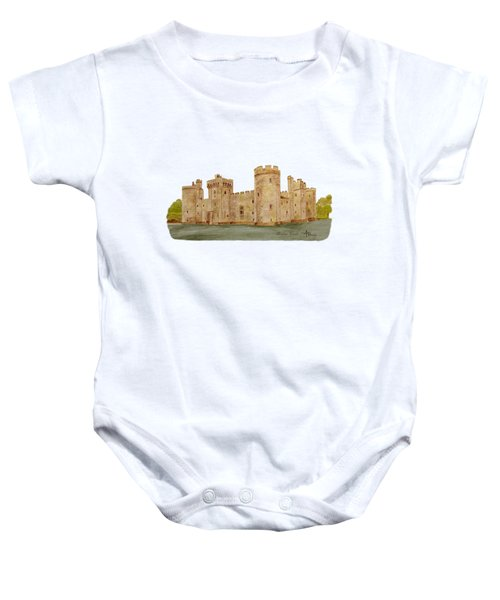 Bodiam Castle Baby Onesie by Angeles M Pomata