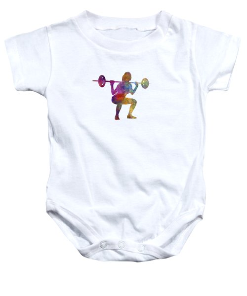 Body Buiding Woman Isolated Baby Onesie