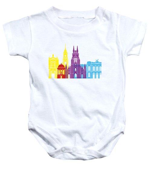 Bogota Skyline Pop Baby Onesie