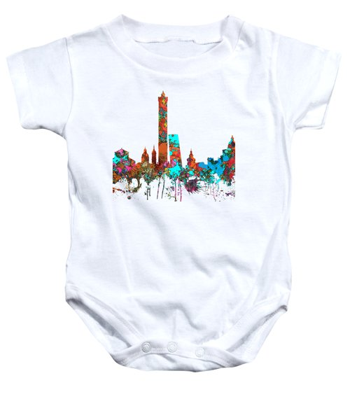 Bologna Italy  Skyline  Baby Onesie by Marlene Watson