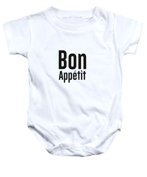 Bon Appetit 2 - Good Food - Minimalist Print - Typography - Quote Poster Baby Onesie
