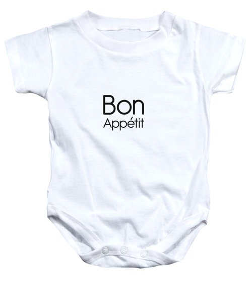 Bon Appetit - Good Food - Minimalist Print - Typography - Quote Poster Baby Onesie