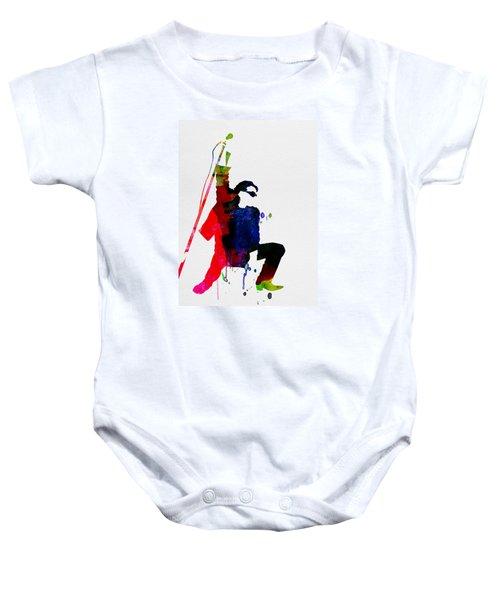 Bono Watercolor Baby Onesie by Naxart Studio