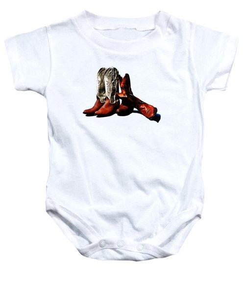 Boot Friends Cowboy Art For Tshirts Baby Onesie