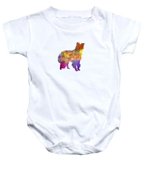 Border Collie In Watercolor Baby Onesie