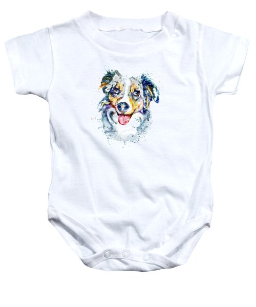 Border Collie  Baby Onesie