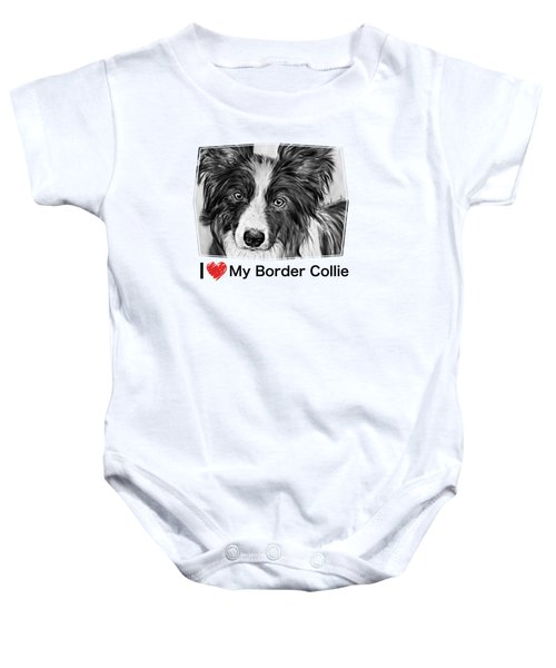 Border Collie Stare Baby Onesie