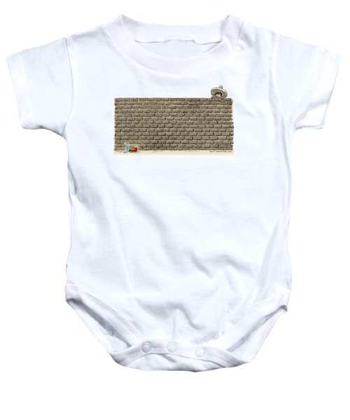 Border Wall Baby Onesie