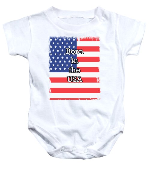 Born In The Usa Baby Onesie