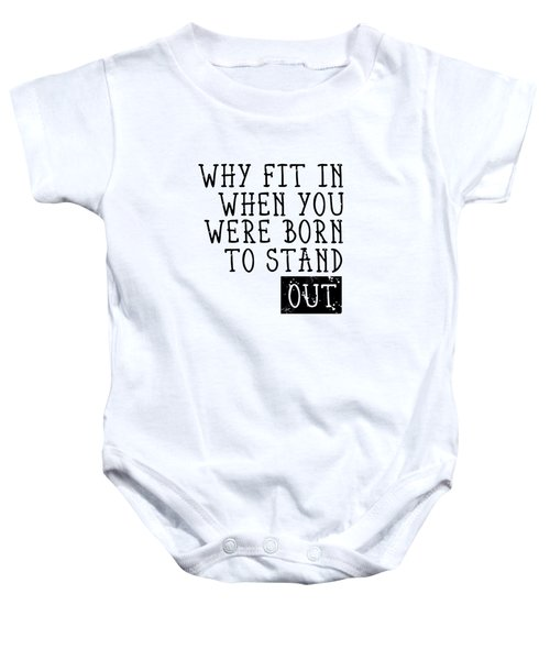 Born To Stand Out Baby Onesie