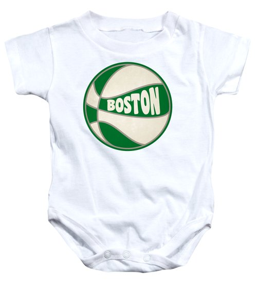 Boston Celtics Retro Shirt Baby Onesie by Joe Hamilton