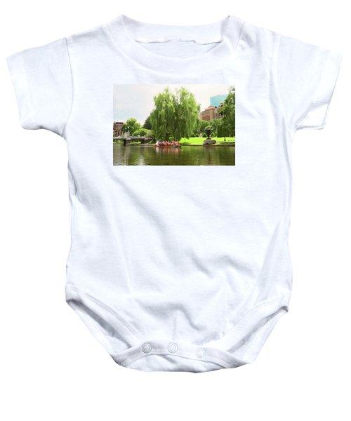 Boston Garden Swan Boat Baby Onesie