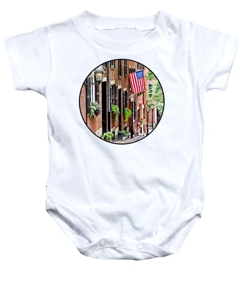 Boston Ma - Acorn Street Baby Onesie