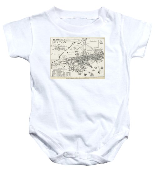 Boston Map, 1722 Baby Onesie