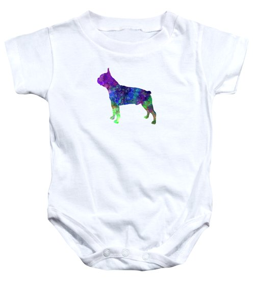 Boston Terrier 02 In Watercolor Baby Onesie