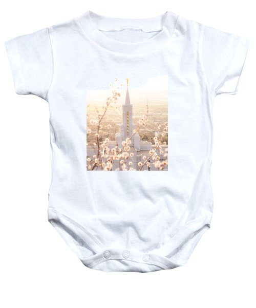 Bountiful Temple Blooms Baby Onesie