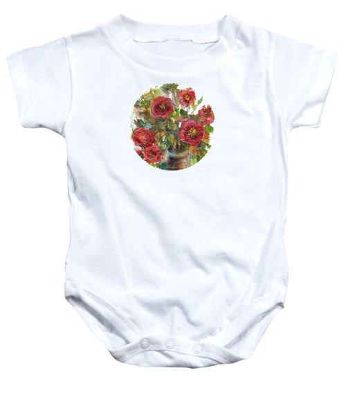 Bouquet Of Poppies Baby Onesie