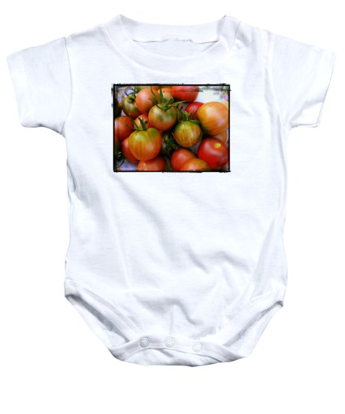 Bowl Of Heirloom Tomatoes Baby Onesie