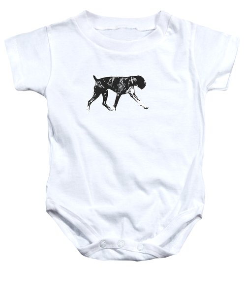 Boxer Dog Tee Baby Onesie by Edward Fielding