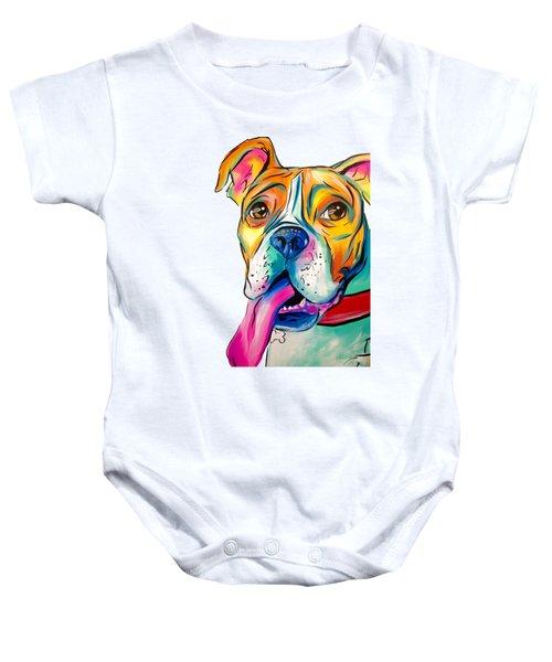 Boxer Pup Baby Onesie