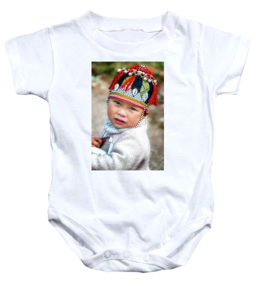 Boy With A Red Cap. Baby Onesie