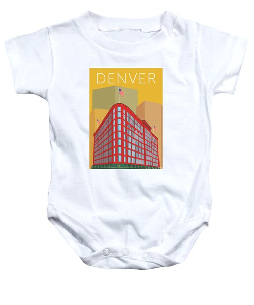 Denver Brown Palace/gold Baby Onesie