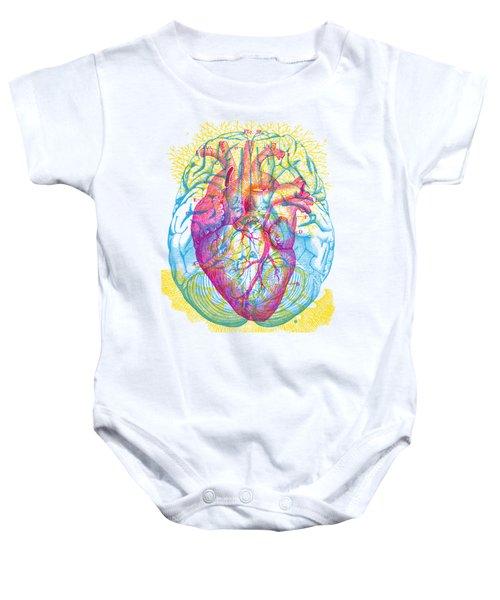 Brain Heart Circulation Baby Onesie