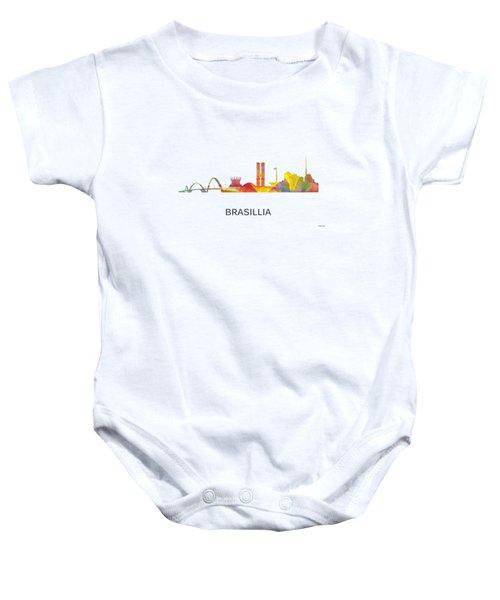 Brasillia Brazil Skyline Baby Onesie