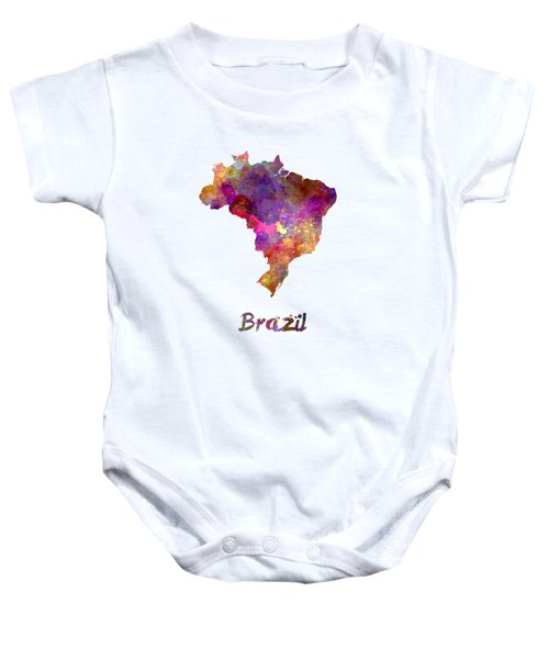 Brazil In Watercolor Baby Onesie