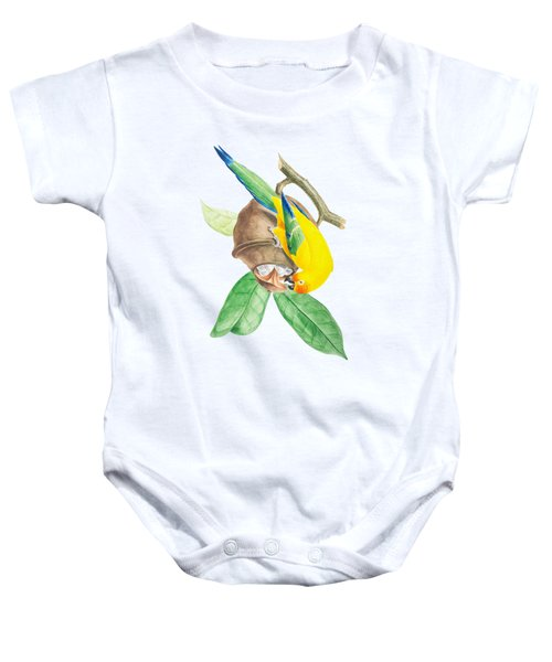 Brazilian Parrot Baby Onesie by Philip Ralley